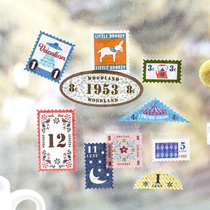 Vintage Midori Traveler Stamp Sticker-6 Set -paperhouse