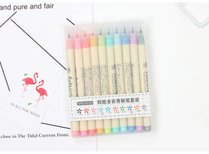 Watercolor Calligryphy Pens-10 Pcs -paperhouse