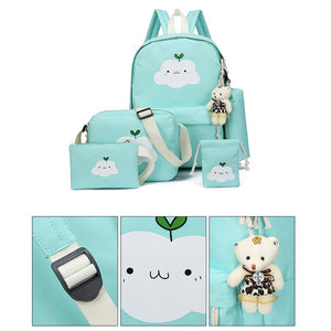 Friendly Cloud Backpack - 4pcs/Set