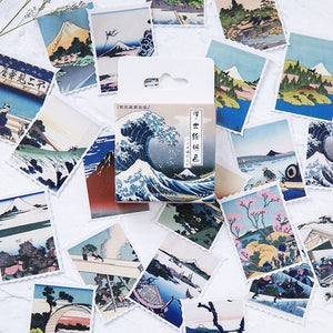 Japanese Vintage Style Sticker-46 pcs/box -paperhouse