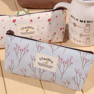 Cute Kawaii Floral Flower Pencil Cases