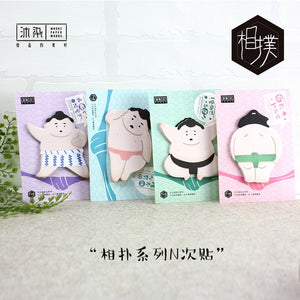 Sumo Wrestler Sticky Notes-4pcs