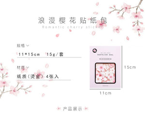 Cherry Blossoms Sakura Sticker-4 Pcs -paperhouse