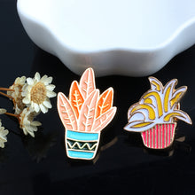 Load image into Gallery viewer, Potted Plants Enamel Pins - 4pcs