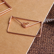 Load image into Gallery viewer, Rose Gold Paper Clip Set - 20pcs/1 box