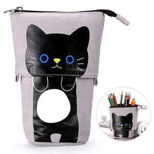 Lovely Cartoon Stand Stationery Pencil Case