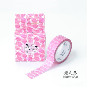 Cute Romantic Cherry Blossoms Decorative Washi Tape