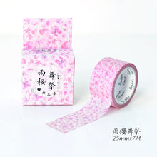 Load image into Gallery viewer, Cute Romantic Cherry Blossoms Decorative Washi Tape