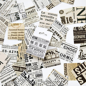 Creative Retro Newspaper Diary Stickers - 45pcs/lot