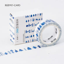 Load image into Gallery viewer, All Blue in the World Washi Tape
