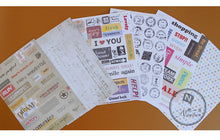 Load image into Gallery viewer, Vintage Punk Postmark Ponybrown Stickers - 6 Sheet/set