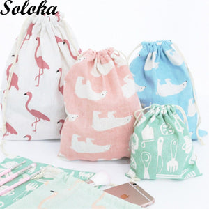 Candy Color Drawstring Bags