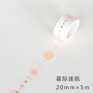 Golden Pink Foil Paper Washi Tape