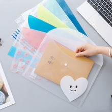 Load image into Gallery viewer, Heart and Smile Transparent Folders - 4pcs
