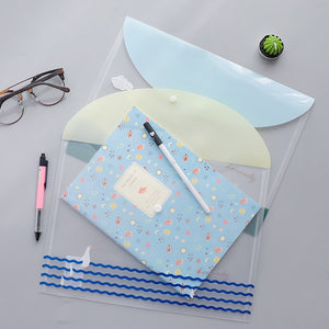 Heart and Smile Transparent Folders - 4pcs