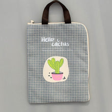 Load image into Gallery viewer, Canvas Cactus Waterproof Document Bag -paperhouse