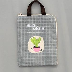 Canvas Cactus Waterproof Document Bag -paperhouse