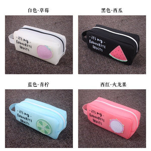 Kawaii Cartoon Fruit Pencil Cases