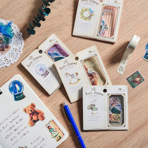 Vintage Hand Book Stickers - 32pcs/box