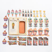 Load image into Gallery viewer, Vintage Hand Book Stickers - 32pcs/box