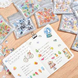 3D Japanese Cute Stickers - 100pcs/pack