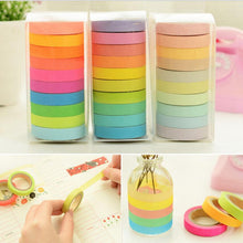 Load image into Gallery viewer, Rainbow Washi Tape - 10pcs