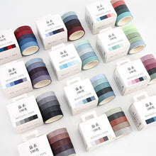 Load image into Gallery viewer, 🥇Rainbow Masking Washi Tape - 3m *5 pcs/lot