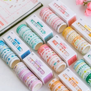 Grid Floral Cute Paper Masking Washi Tape Set - 3m *10 pcs/lot