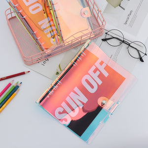 Aesthetic Hologram Notebook Binders - A5 + A6