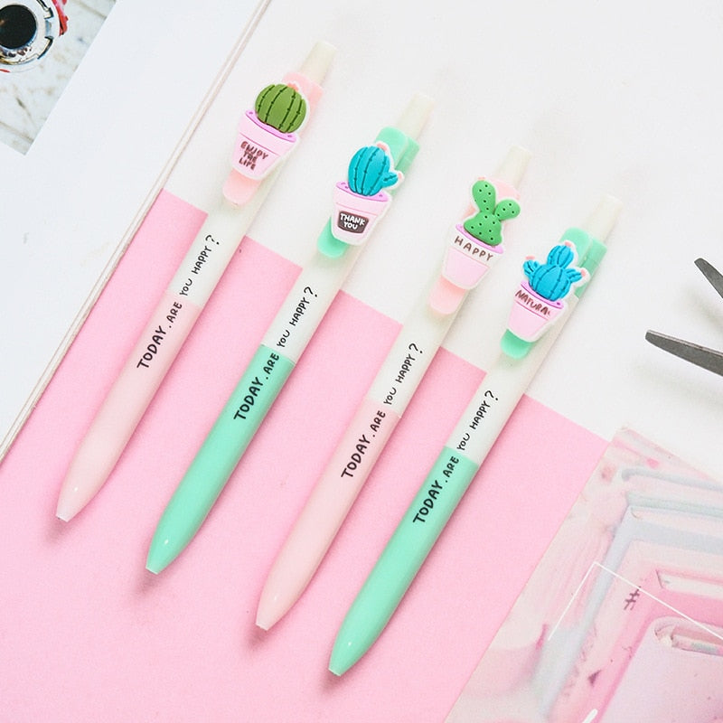 Best Wish Cactus Gel Pen-4 Pcs -paperhouse
