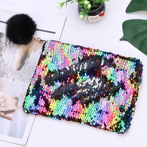 New Reversible Sequin Pencil Case
