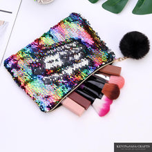 Load image into Gallery viewer, New Reversible Sequin Pencil Case