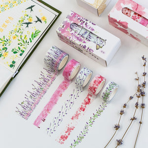 Flower Decorative Washi Tape - 5pcs/lot
