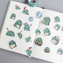 Load image into Gallery viewer, Creative Little Green Dragon Sticker-40 Pcs -paperhouse