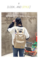 Load image into Gallery viewer, Harajuku Fashion Canvas Backpack -paperhouse