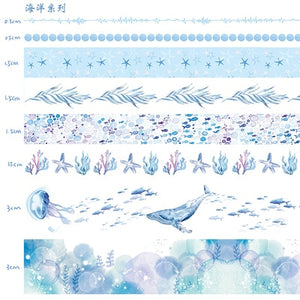 🥉Cute Paper Masking Washi Tape - 2m *10 pcs/lot