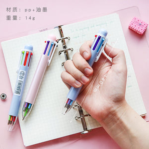 6-Colors Multicolored Ballpoint Pens