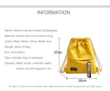 Load image into Gallery viewer, Fashion Canvas Drawstring Backpack