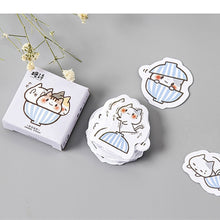 Load image into Gallery viewer, Candy Poetry Cup Cat Sticker-45 Pcs -paperhouse