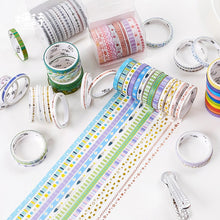 Load image into Gallery viewer, Thin Decor Foiled Washi Tape - 2m *10 pcs/lot