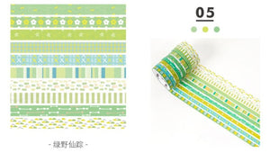 Thin Decor Foiled Washi Tape - 2m *10 pcs/lot