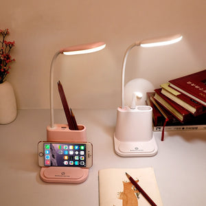 Pastel USB Rechargeable Desk Lamp with Fan