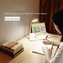Load image into Gallery viewer, Pastel USB Rechargeable Desk Lamp with Fan