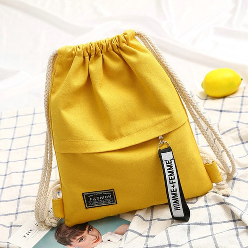 Fashion Canvas Drawstring Backpack