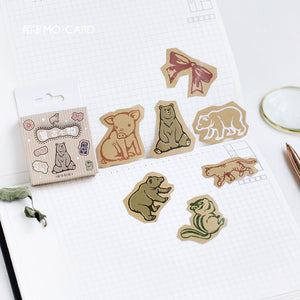Cute Retro Things Label Stickers - 45pcs/box