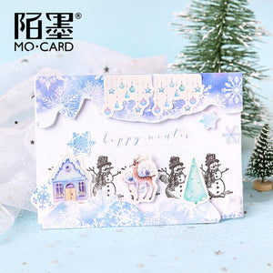 Nordic Snow Stickers - 46pcs/box