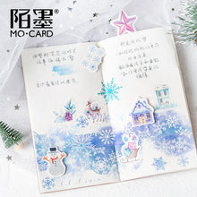 Load image into Gallery viewer, Nordic Snow Stickers - 46pcs/box