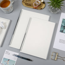 Load image into Gallery viewer, Clear Spiral Bound A4 + B5 Notebook - 100gsm/Paper Weight