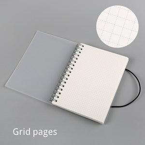 Clear Spiral Bound A4 + B5 Notebook - 100gsm/Paper Weight
