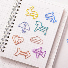 Load image into Gallery viewer, Cartoon Shapes Paper Clips Set - 12pcs/box
